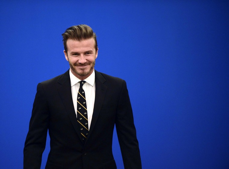 Image: David Beckham Visits China