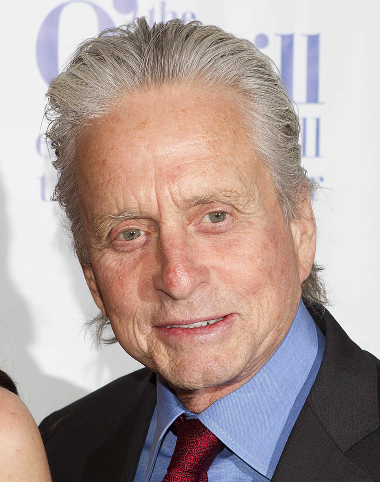 Image: Actor Michael Douglas arrives for the Monte Cristo Awards in New York