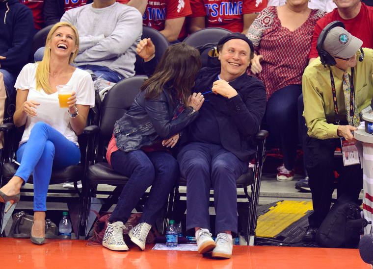 Image: Celebrities At The Los Angeles Clippers Game