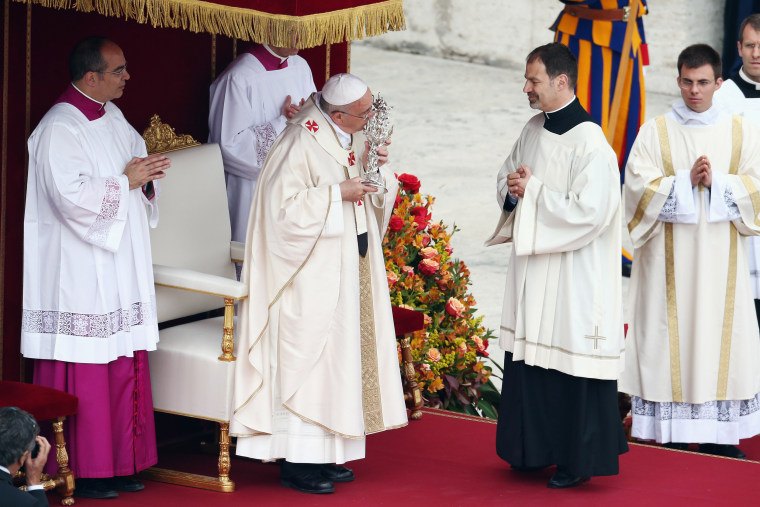 Image: Pope John Paul II And Pope John XXIII Are Declared Saints During A Vatican Mass