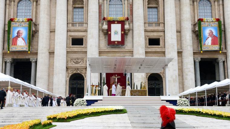 Image: Canonization of pope John Paul II and Pope John XXIII