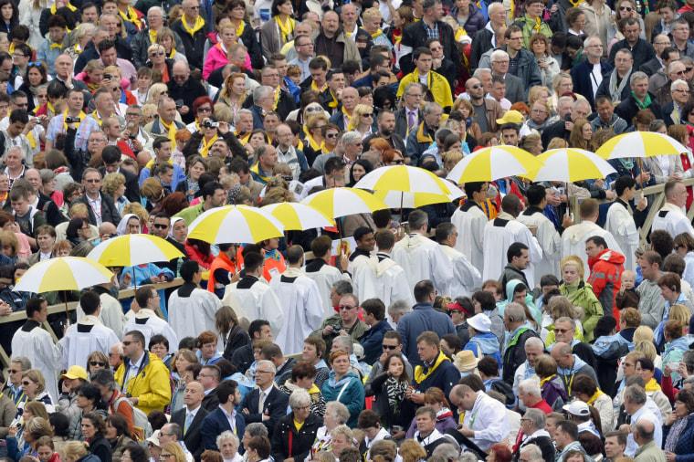Image: VATICAN-RELIGION-POPE-CANONISATION