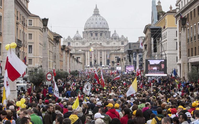 Image: Canonization of John Paul II and John XXIII