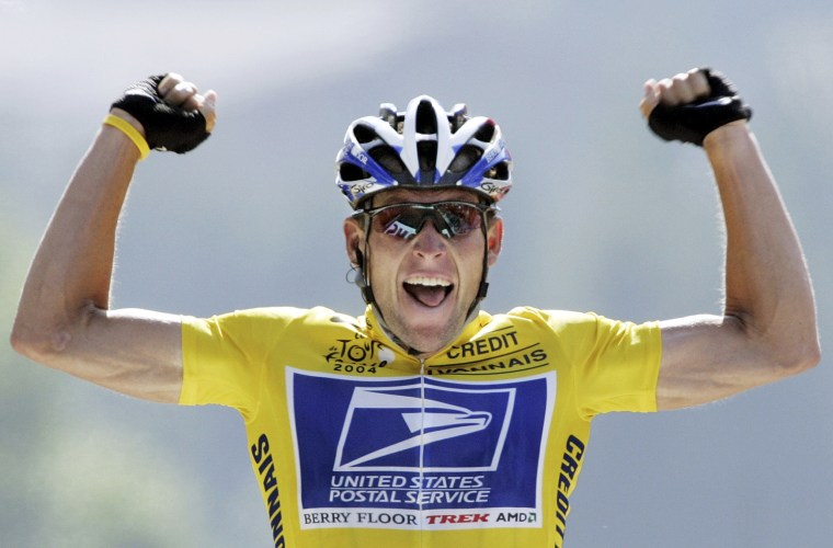 Image: File photo of Lance Armstrong during the Tour de France