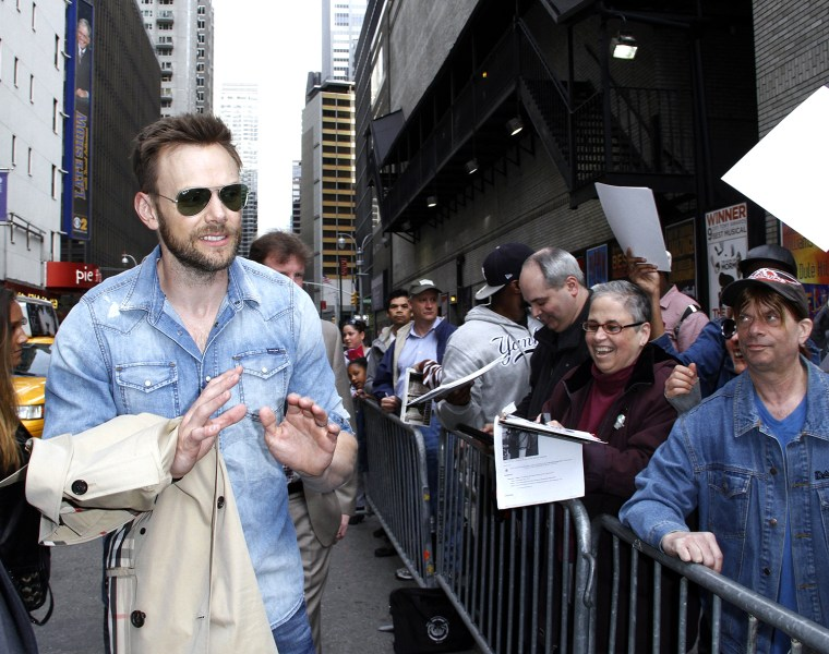 """Image: Celebrities Visit """"Late Show With David Letterman"""" - April 28, 2014"""