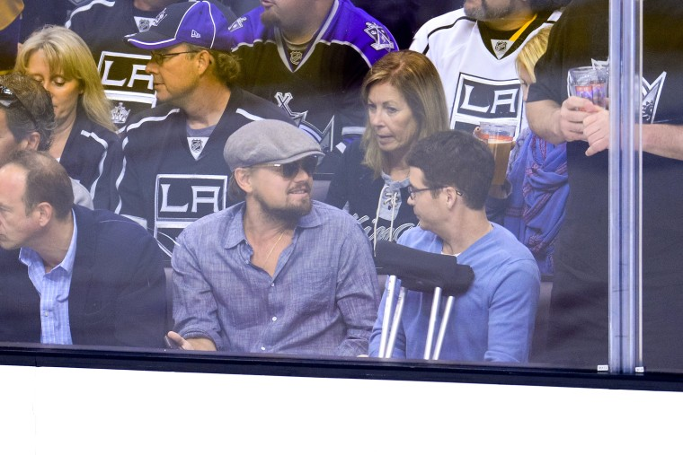 Image: Celebrities At The Los Angeles Kings Game