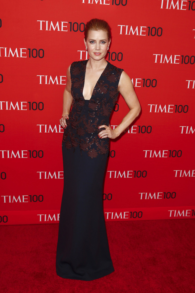 Image: Adams arrives at the Time 100 gala celebrating the magazine's naming of the 100 most influential people in the world for the past year, in New York