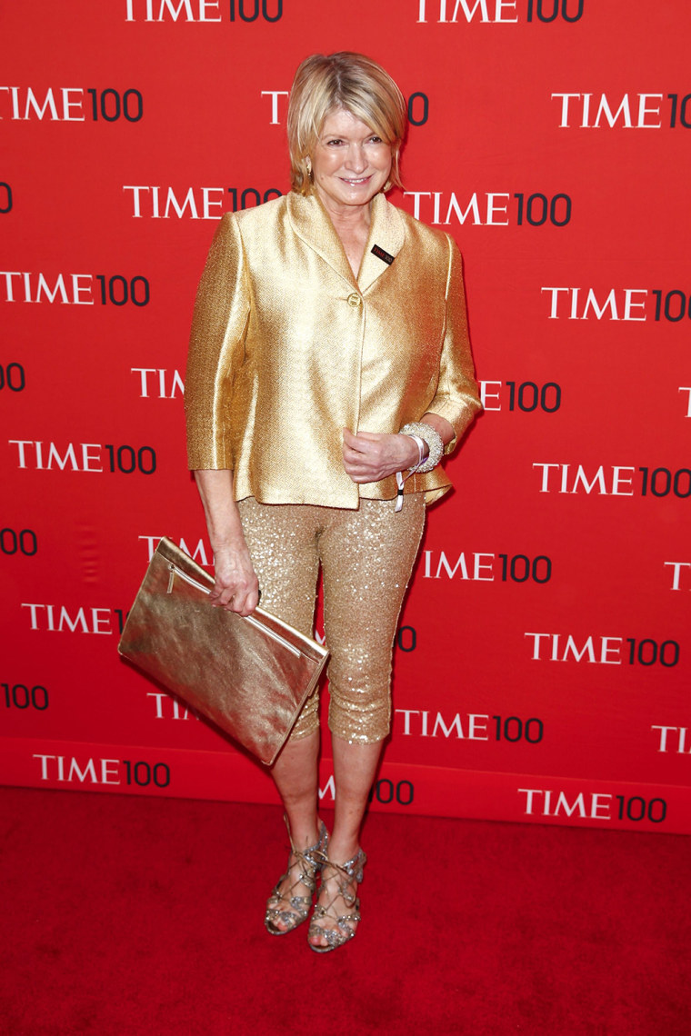 Image: Stewart arrives at the Time 100 gala celebrating the magazine's naming of the 100 most influential people in the world for the past year, in New York
