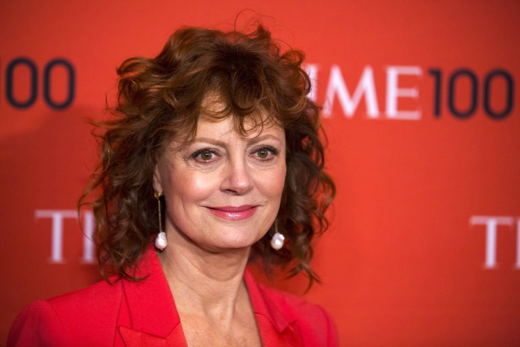 Image: Actress Susan Sarandon arrives at the Time 100 gala celebrating the magazine's naming of the 100 most influential people in the world for the past year in New York