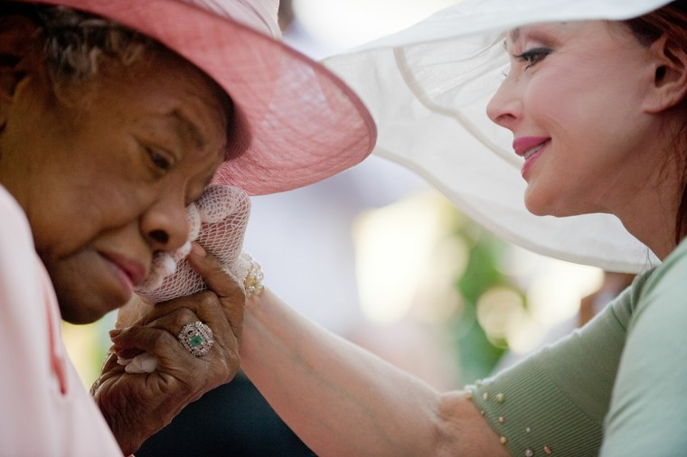 Image: Garden Party Celebration For Dr. Maya Angelou's 82nd Birthday