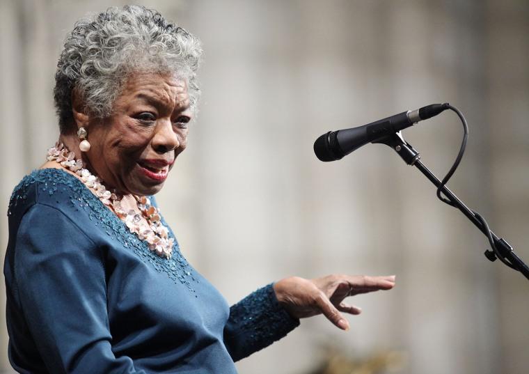 Image: FILE: Poet Maya Angelou Dies At Age 86