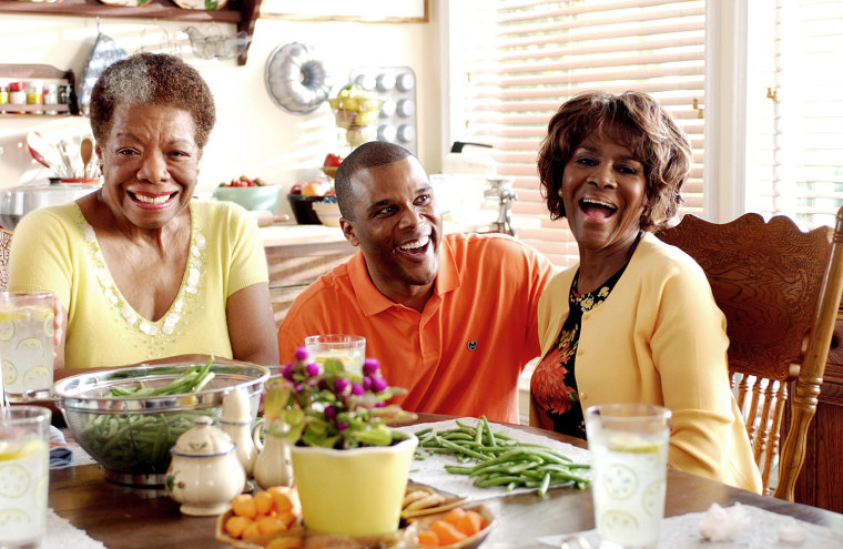 MADEA'S FAMILY REUNION,  Maya Angelou, Director Tyler Perry, Cicely Tyson, on set, 2006, ©Lions Gate