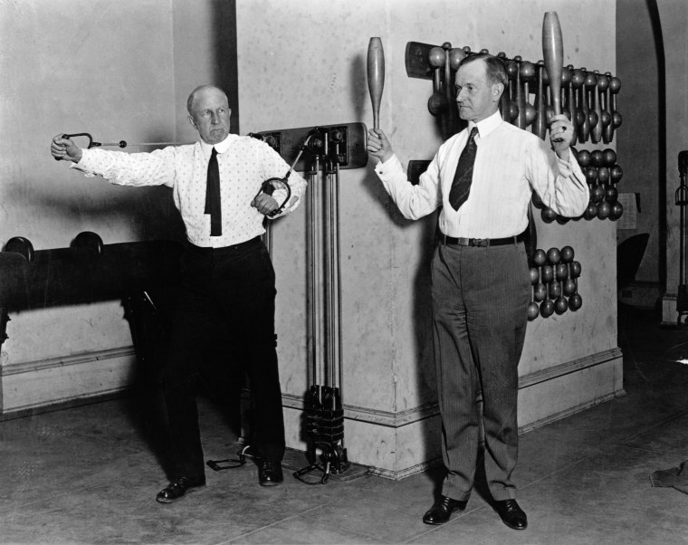 Calvin Coolidge and Speaker of the House Exercising