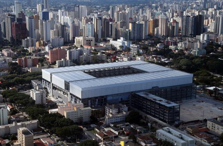 Image: FILE-FBL-WC-2014-STADIUM-ARENA DA BAIXADA