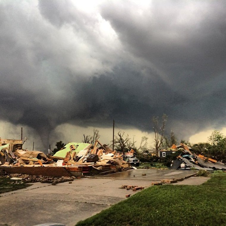 Image: Image: Two tornadoes swept through the town of Pilger, Neb., causing major damage on Monday, June 16, 2014.