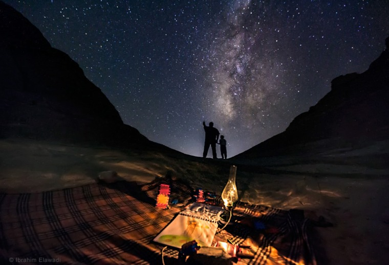 Image:  Stargazing from a desert near Fayoum, about 60 miles south of Cairo, Egypt