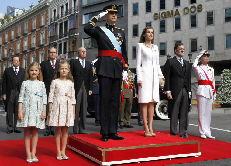 Image: The Coronation Of King Felipe VI And Queen Letizia Of Spain