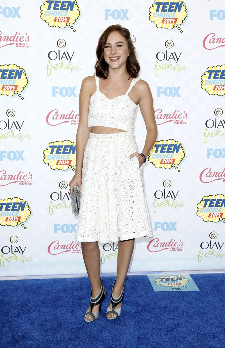 Image: Haley Ramm arrives at the Teen Choice Awards 2014 in Los Angeles