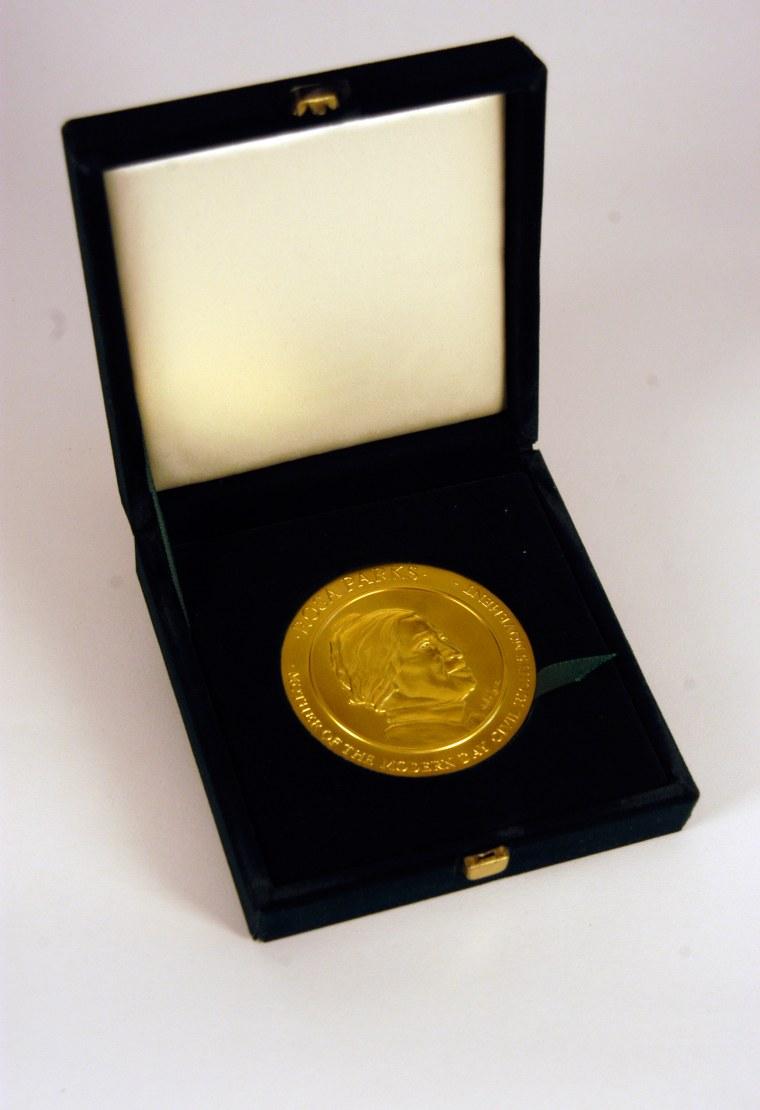 Image: Rosa Parks' Congressional Gold Medal
