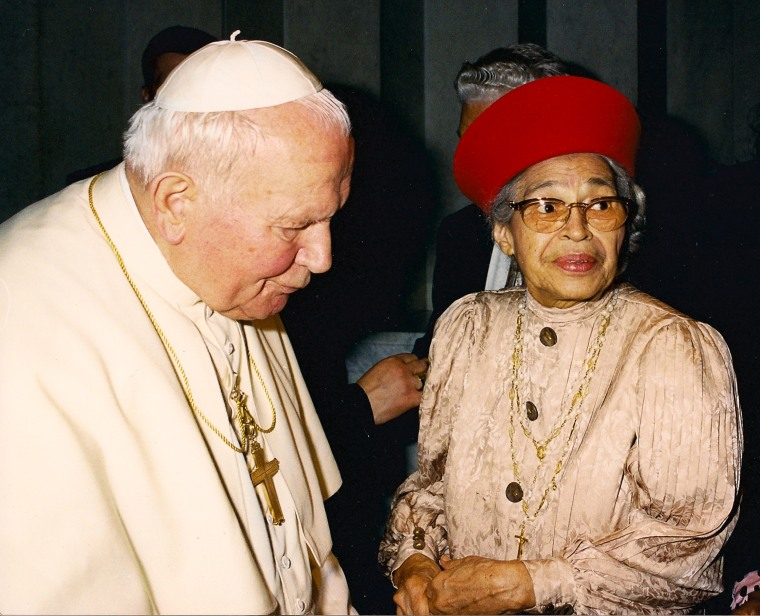 Image: Rosa Parks with Pope John Paul II
