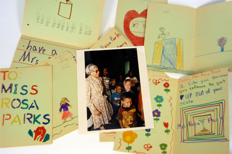 Image: Children's cards sent to Rosa Parks