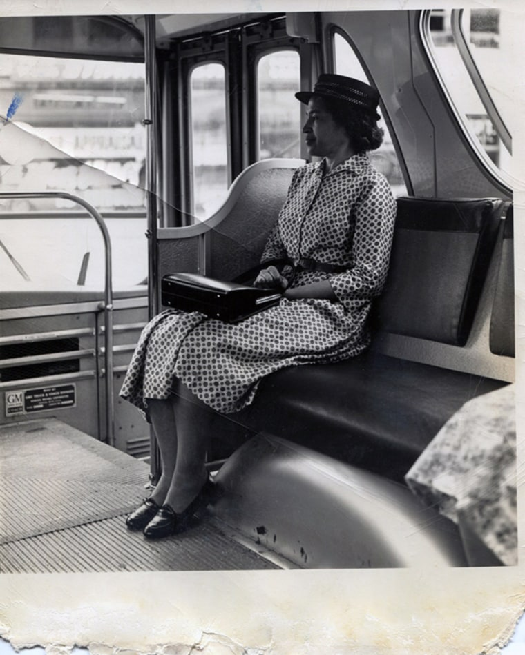 Image: Rosa Parks posing for a front cover days after the bus incident