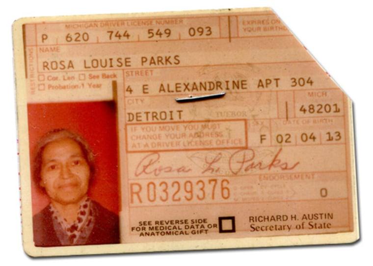 Image: Rosa Parks' Drivers License