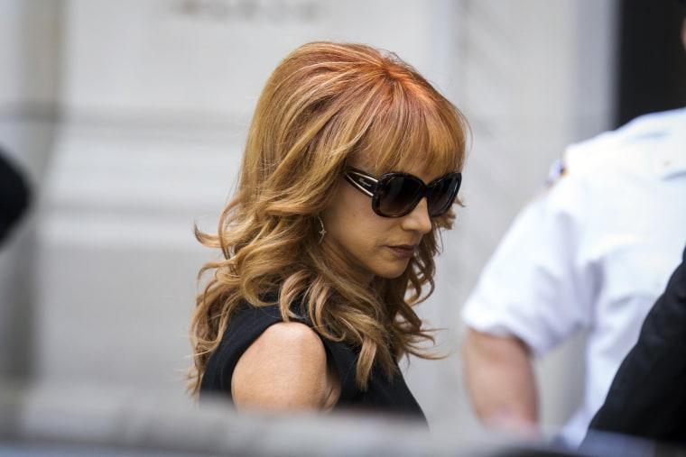 Image: Comedienne Kathy Griffin arrives to attend the funeral of comedienne Joan Rivers at Temple Emanu-El in New York