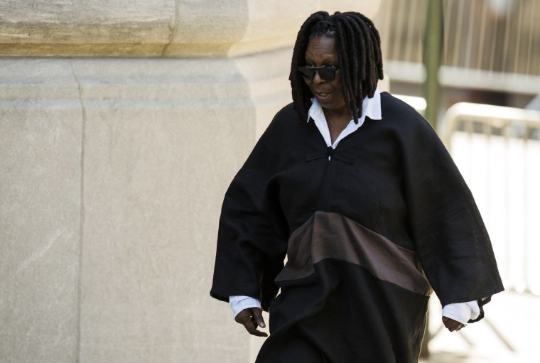 Image: Comedienne Whoopi Goldberg arrives to attend the funeral of comedienne Joan Rivers at Temple Emanu-El in New York