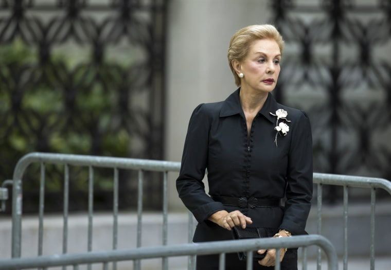 Image: Designer Carolina Herrera arrives to attend the funeral of comedienne Joan Rivers at Temple Emanu-El in New York