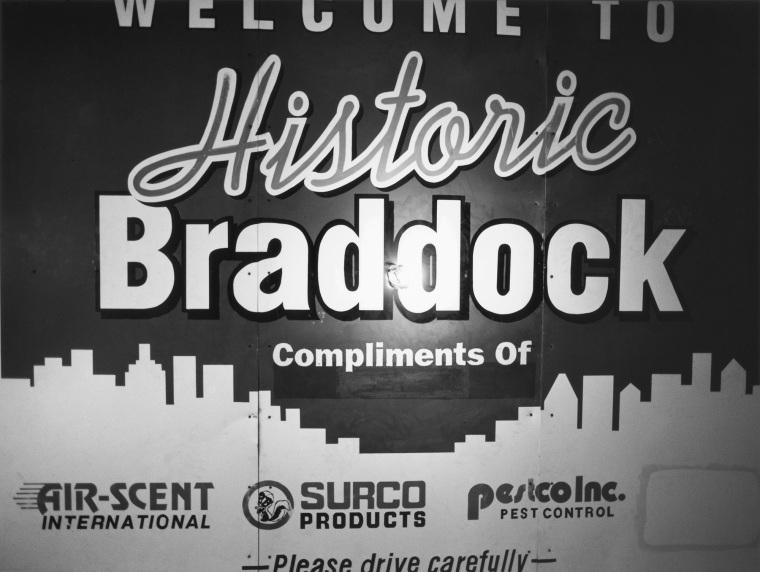 1980s ÒWelcome to Historic BraddockÓ Signage and a Lightbulb, 2009