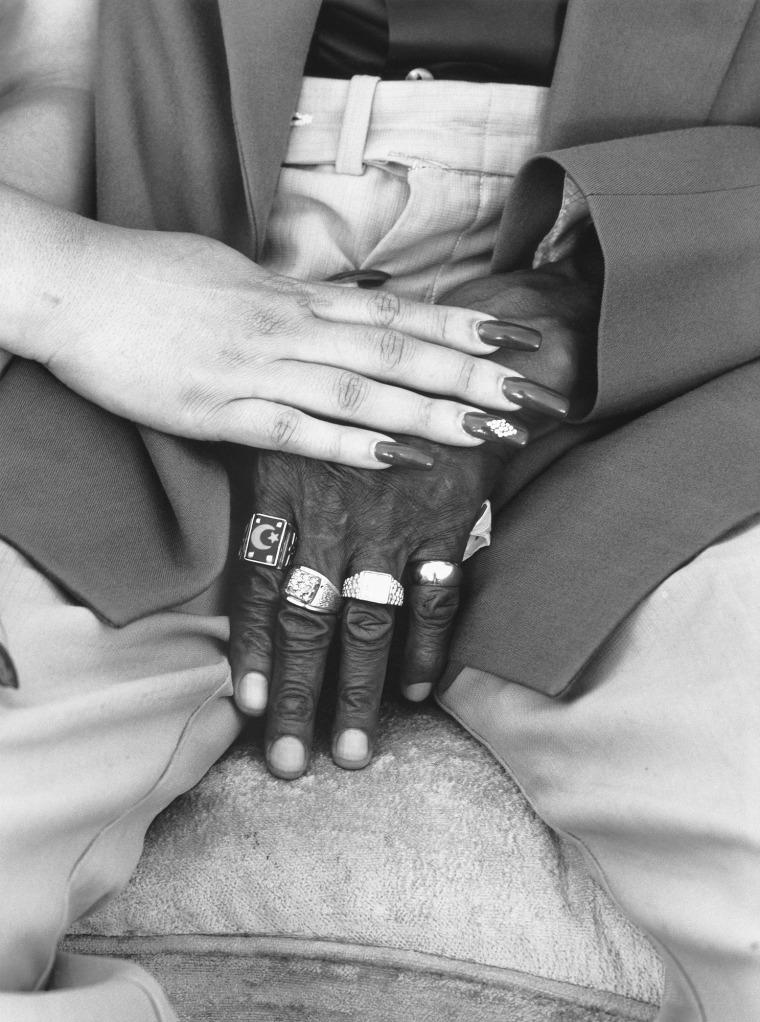 Mom and Mr. YerbyÕs Hands, 2005