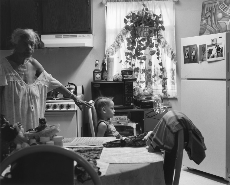 Grandma Ruby and J.C. in Her Kitchen, 2006