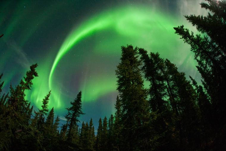 Aurora on Thursday night in Fairbanks, Ak.
