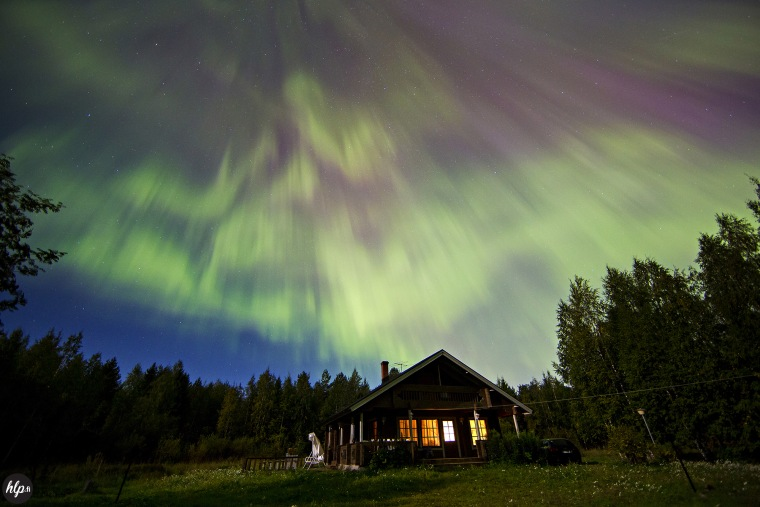 http://www.hlp.fi/   Sky filled with Aurora Borealis an hour ago! #Finland