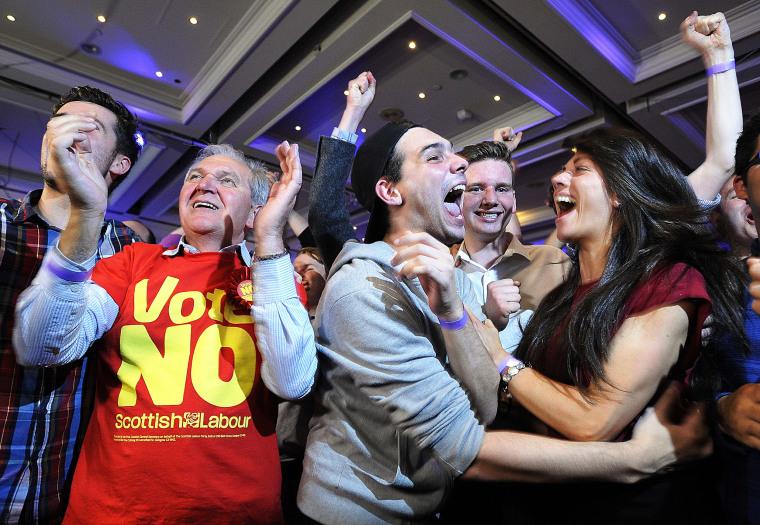 Image: TOPSHOTS-BRITAIN-SCOTLAND-INDEPENDENCE-VOTE