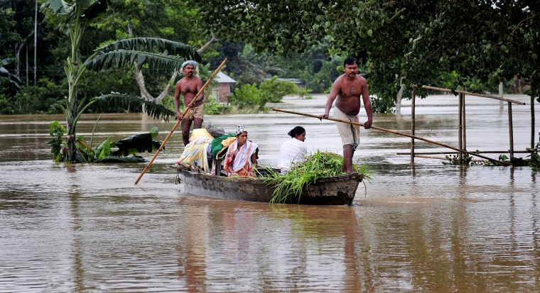Image: 22 killed in floods, landslides in north-eastern India
