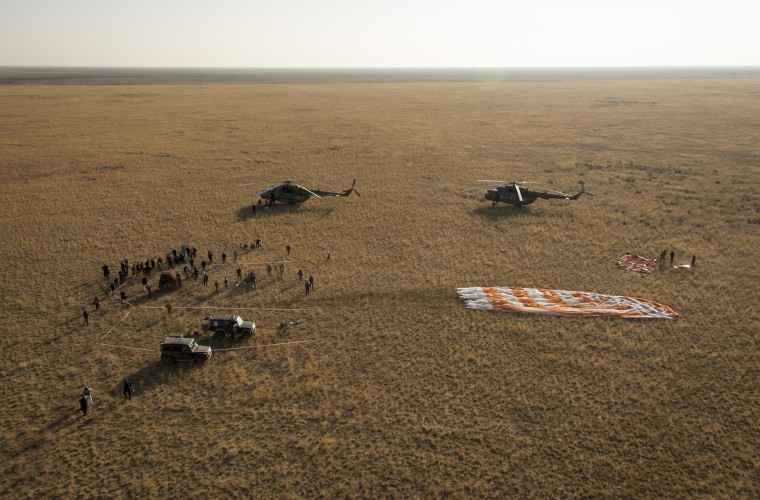Image: BESTPIX - Space Station Crew Members Return To Earth