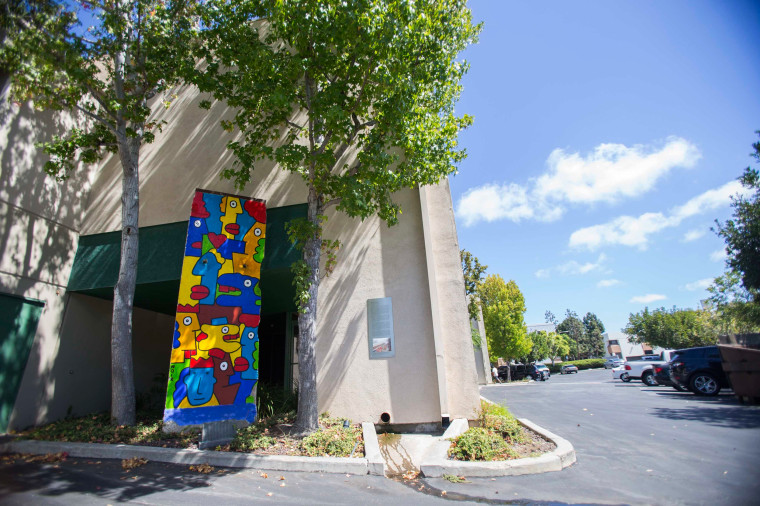 Image: A segment of the Berlin Wall is pictured at The Wende Museum and Archive of the Cold War in Culver City, California