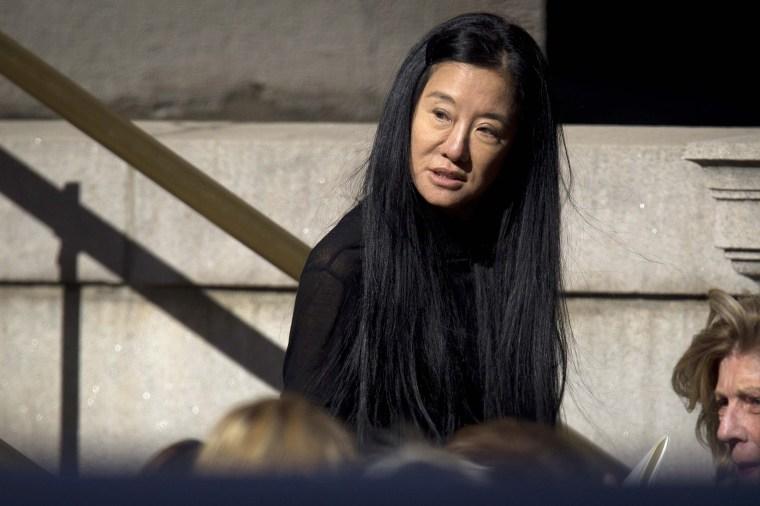 Image: Vera Wang departs St. Ignatius Loyola church following fashion designer Oscar de la Renta's memorial service in the Manhattan borough of New York