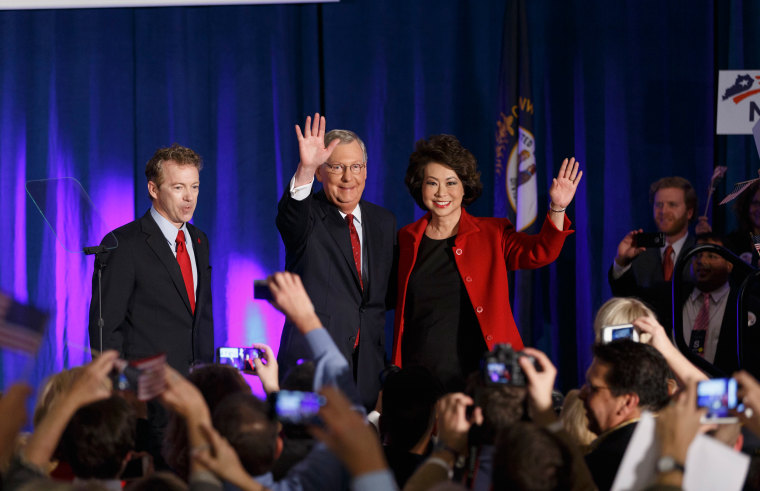 Image: Mitch McConnell, Elaine Chao, Rand Paul