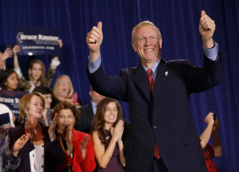 Image: Gubernatorial Candidate Bruce Rauner Attends Election Night Gathering In Chicago