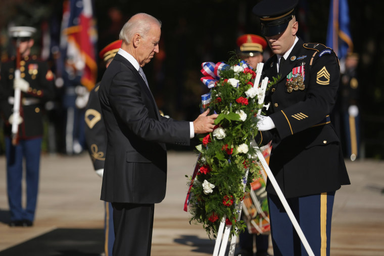 Image: VP Biden Lays Wreath At Arlington National Cemetery On Veterans Day