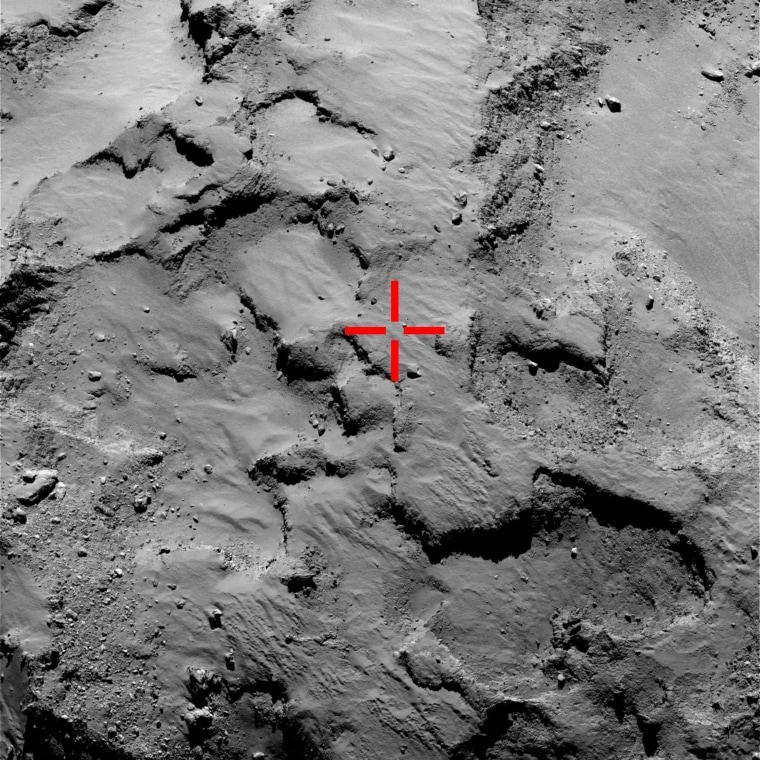 Image: Philae during its landing on Comet 67P/Churyumov-Gerasimenko