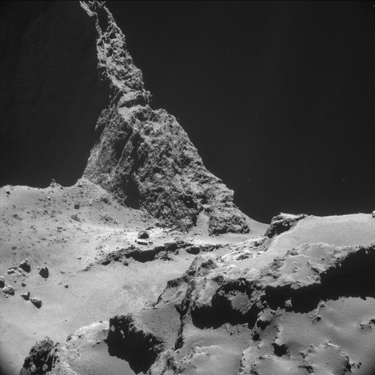 Image: A handout image of the comet 67P/Churyumov-Gerasimenko made available by the ESA