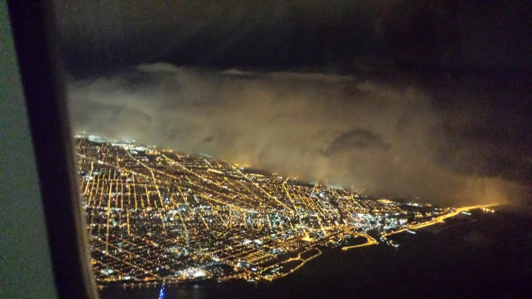 Image: A Twitter user made this photo while landing at the Buffalo Niagara International Airport on Nov. 18