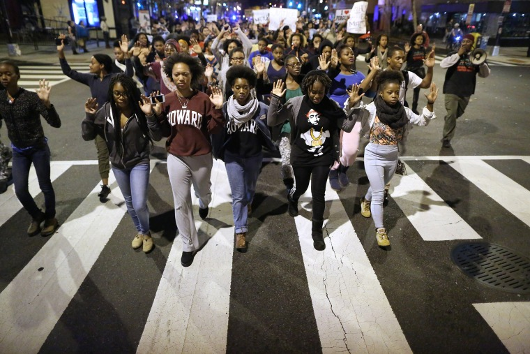 Image: Hundreds Rally In DC After Grand Jury Decision In Michael Brown Shooting