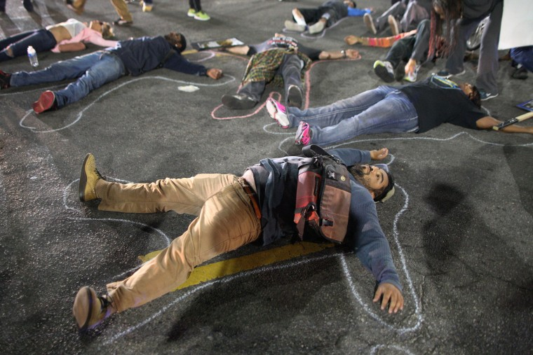 Image: Protesters In LA React To Grand Jury Decision In Ferguson Case