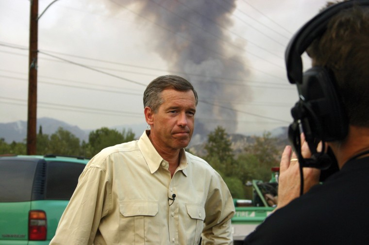 Image: Reporting on the wildfire north of Los Angeles, CA, September 2009