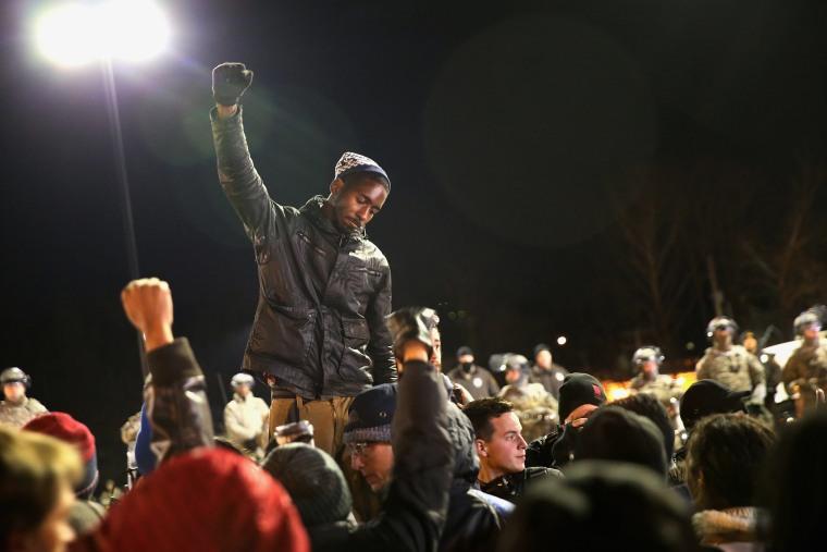 Image: Riots After Grand Jury Decision Rip Apart Ferguson, Missouri